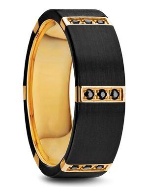 Mens Tungsten Wedding Bands SKU#W1281-BTGI Gold Plated, Tungsten Wedding Ring