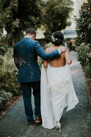 Bride's Elegant Backless Gown