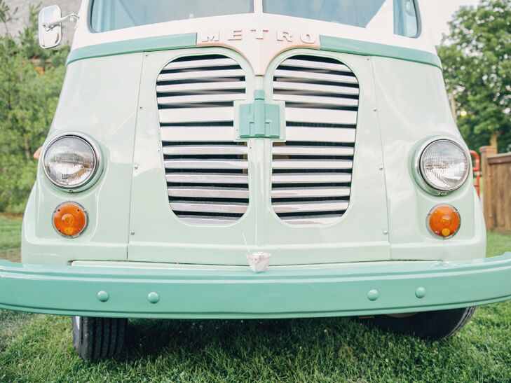 Wedding reception food truck retro ice cream truck