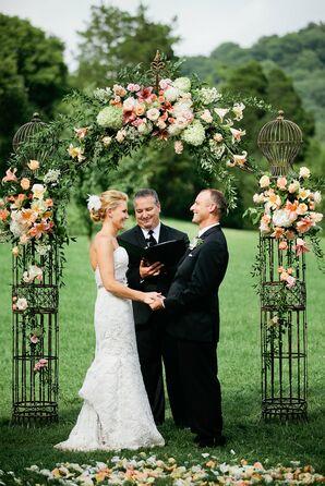Vintage Birdcage-Inspired Wedding Arch