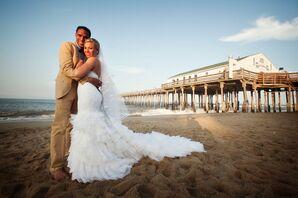 Custom-Made Ruffled Wedding Gown