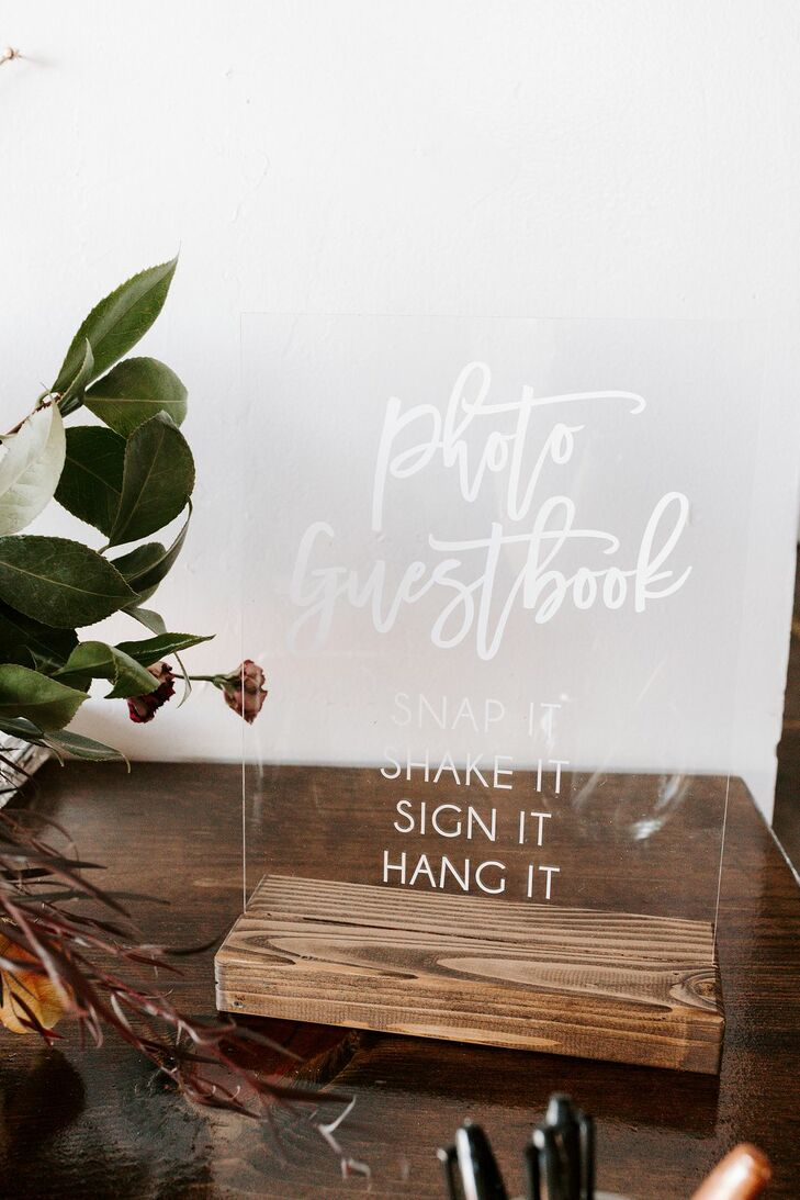 Acrylic Guest Book Sign at Brick in San Diego, California