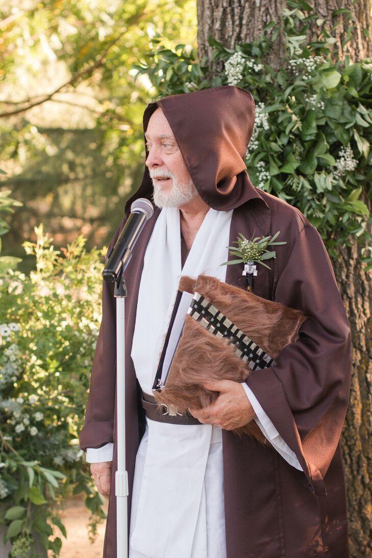 Officiant Dressed as Obi-Wan Kenobi