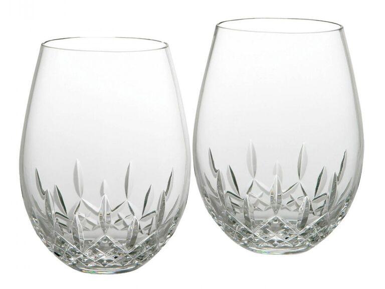 Crystal wine glasses 15-year anniversary gift