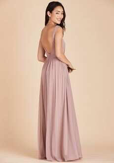 Birdy Grey Jan Scoop Back Dress in Mauve Scoop Bridesmaid Dress