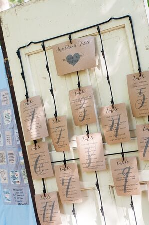 Rustic Vintage Escort Card Display