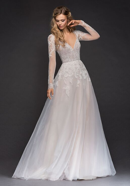 Hayley Paige 6808-Mara A-Line Wedding Dress