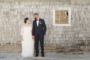 Classic Bride and Groom at Chamard Vineyards
