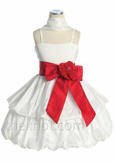 Pink Princess D3320 Red Flower Girl Dress
