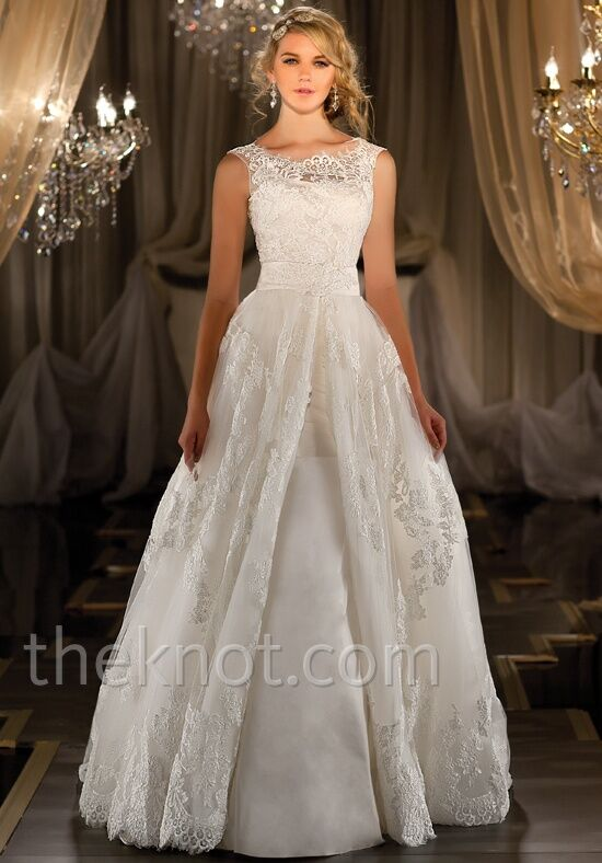 Martina liana 424 wedding dress the knot for The knot gift registry