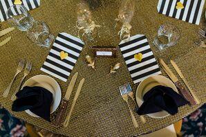 Gold, Black and White Dinnerware