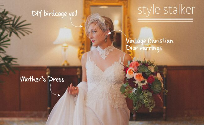 A Retro Glam Wedding Style See How This Bride Did It