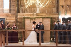 Indoor Barn Ceremony