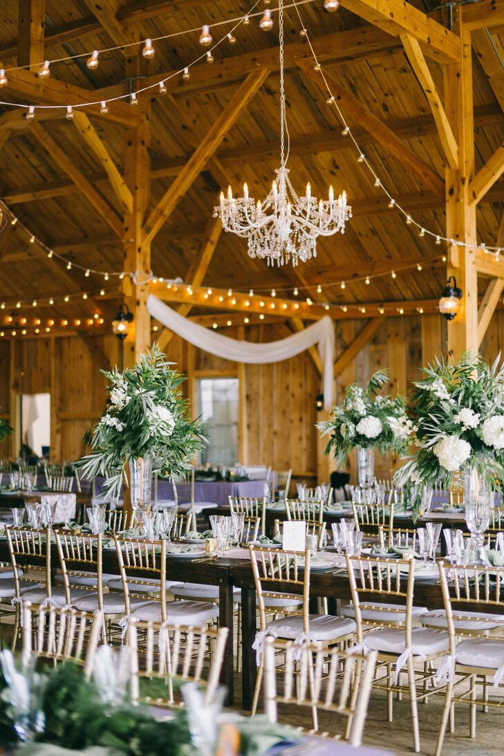 Barn Reception with Lavender Accents