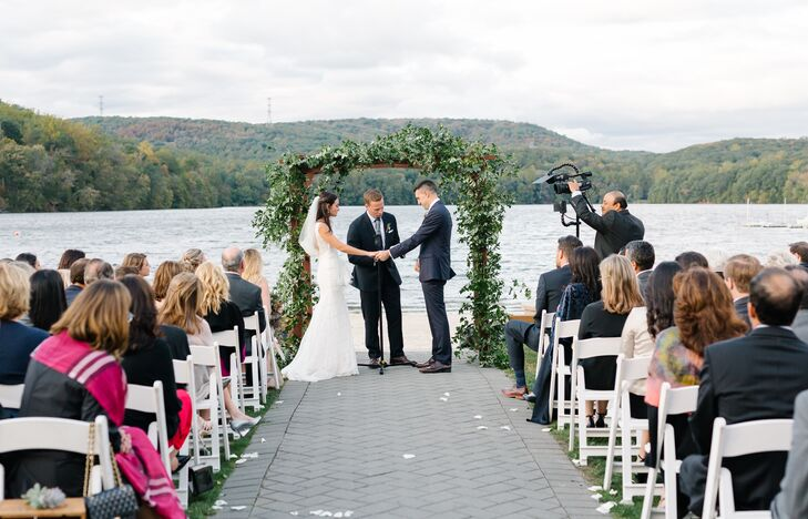 Waterfront Ceremony at the Lake Valhalla Club in Montville, New Jersey