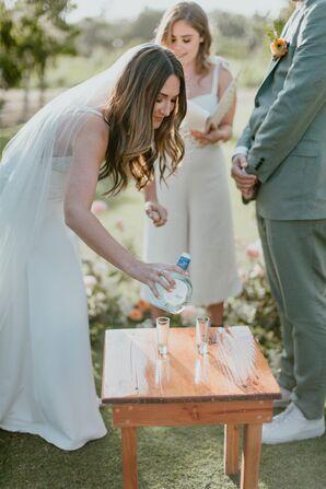 Tequila Shot During Modern Wedding Ceremony