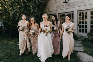 Romantic Neutral, Blush Bridesmaid Dresses