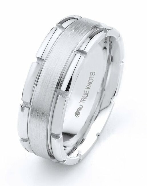 TRUE KNOTS True Man - 526DCW Palladium, Platinum, White Gold Wedding Ring