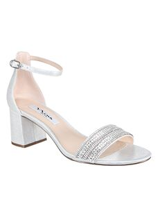 Nina Bridal Elenora_True Silver Reflective Suedette Black, Blue Shoe