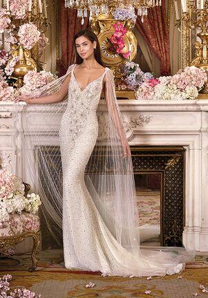 Platinum by Demetrios DP366 - Astra Sheath Wedding Dress