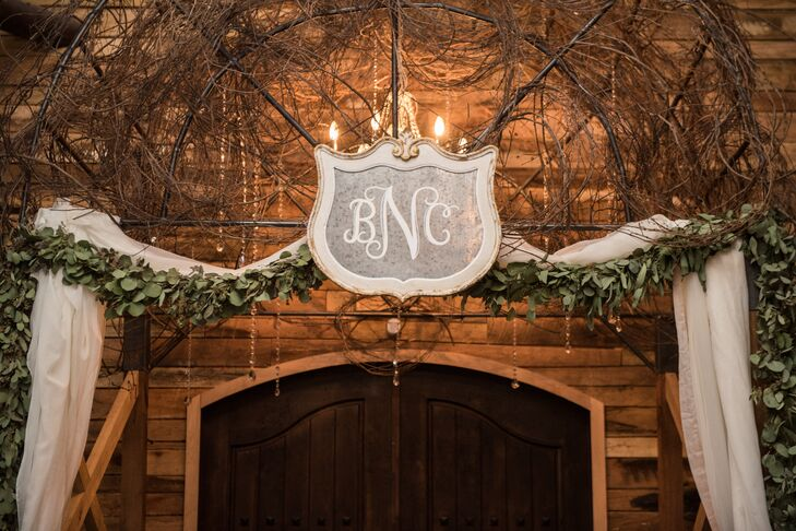 Custom Monogram Over Ceremony Location