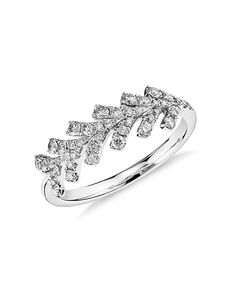 Monique Lhuillier Fine Jewelry Wishbone Diamond Ring Platinum Wedding Ring