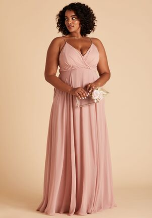 Birdy Grey Kaia Curve Dress in Rose Quartz V-Neck Bridesmaid Dress