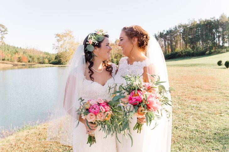 """""""We love telling everyone that it was love at first sight in the toothpaste aisle at Target, but we met online after stalking each other many times. Finally, I asked her out on a date to American Tap Room in Arlington,"""" Emma says."""