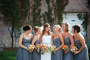 Graphite Gray Amsale Bridesmaid Dresses