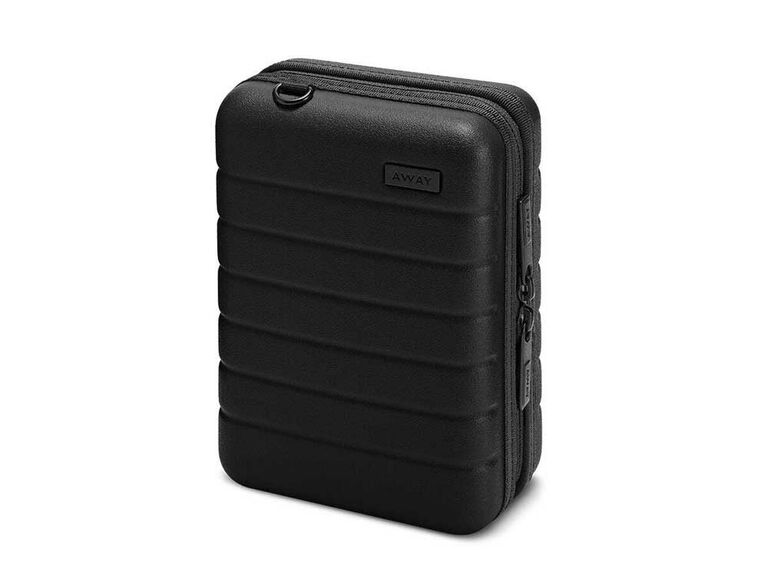 Black travel jewelry case