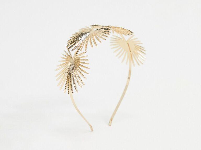Sunburst golden headband
