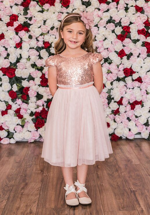 Kid's Dream 410 Pink Flower Girl Dress