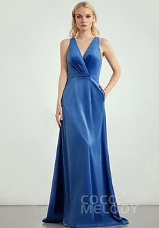 CocoMelody Bridesmaid Dresses CB0276 V-Neck Bridesmaid Dress