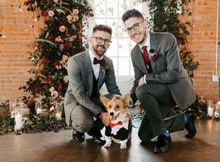 Although southern California's perpetually sunny weather is one of its biggest draws, Sean and John wanted their wedding to pay homage to the crisp au