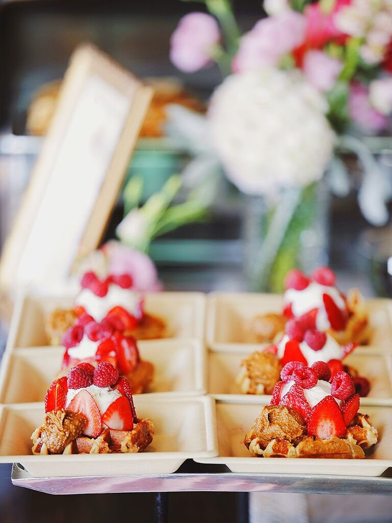Waffles à la mode idea for a wedding brunch