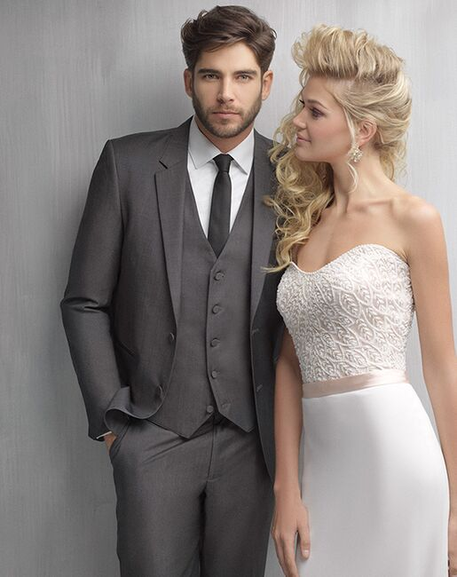 Allure Men Graphite Suit Gray Tuxedo