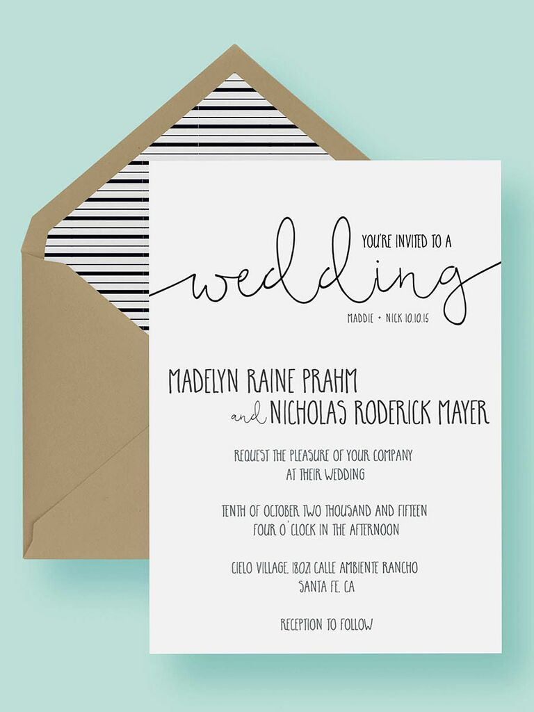 Charmant Printable Wedding Invitation Template
