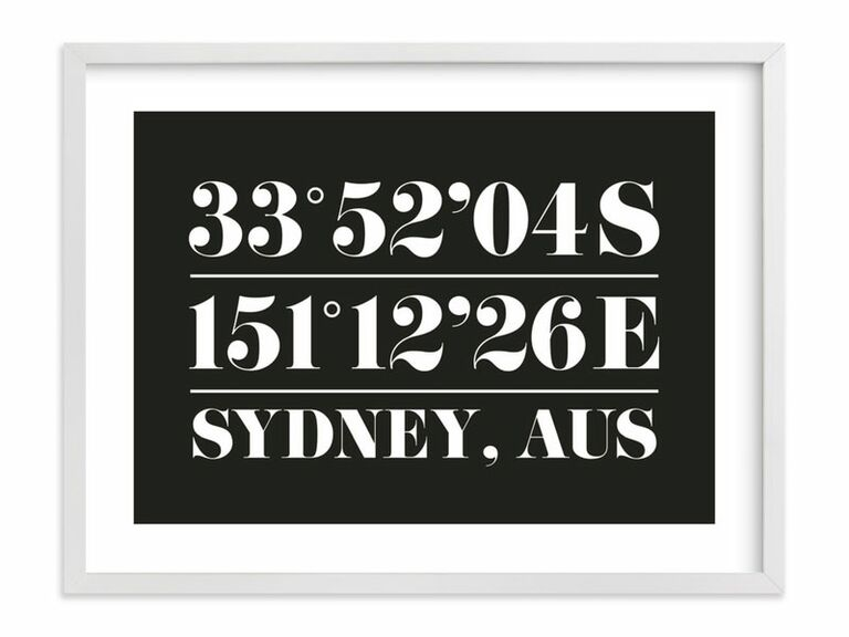 black and white coordinates art print