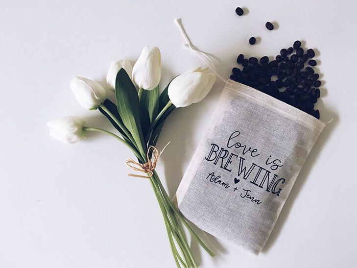 Unique wedding favor coffee bean bags