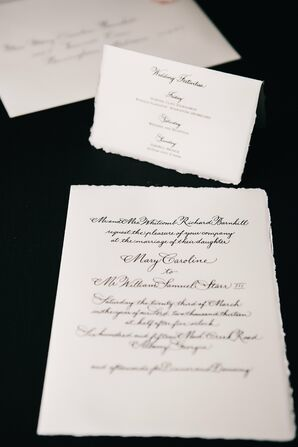 Parchment Style Wedding Invitation