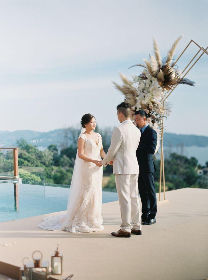 Poolside Wedding Ceremony in Phuket, Thailand