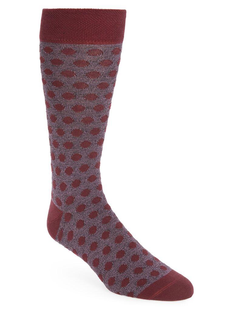 Polka dot groom or groomsmen socks