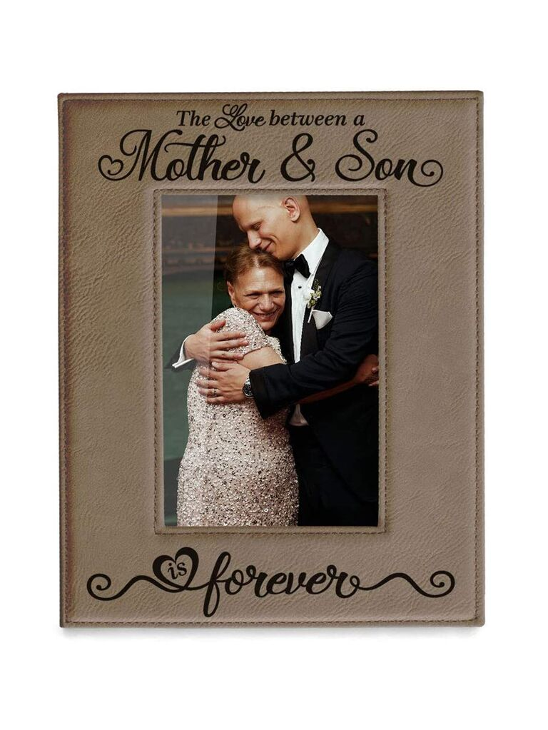 The love between a mother and son photo frame