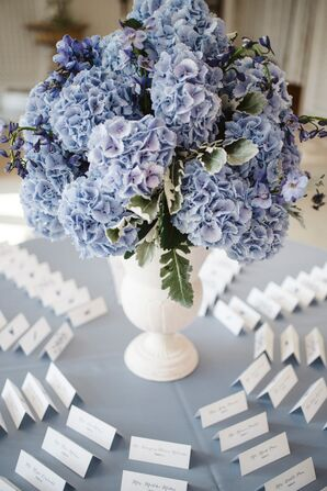 Escort Cards Around Centerpiece