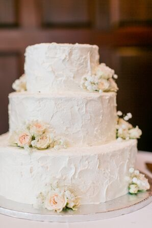 Cake Adorned With Fresh Flowers