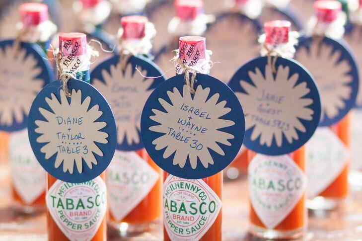 DIY Tabasco Sauce Escort Cards