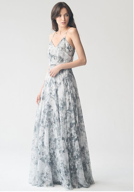 Jenny Yoo Collection (Maids) Inesse Print #1684P V-Neck Bridesmaid Dress
