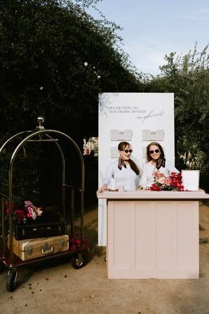 Phone Check Station at Wedding Ceremony