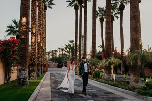 Sunset Couple Portraits at Scottsdale, Arizona, Wedding