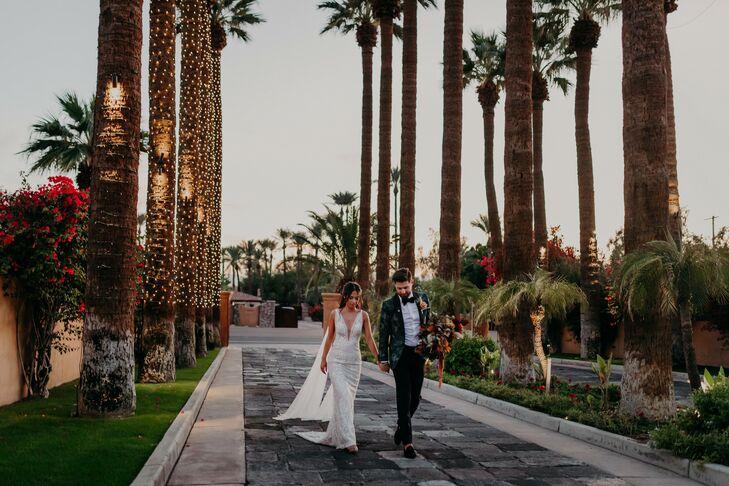 Sunset Couple Portraits at Scottsdale, Arizona, Wedding